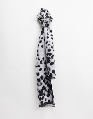 Devils Advocate leopard print scarf