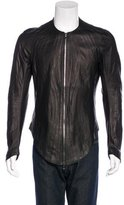 Julius Pleated Leather Jacket