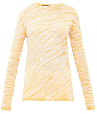 Proenza Schouler Tie-dyed Cotton Long-sleeved T-shirt - Womens - Yellow