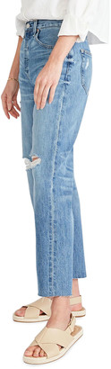 ÉTICA Tyler High-Rise Distressed Boyfriend Ankle Jeans