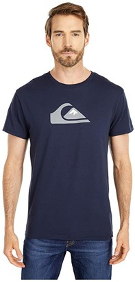 Quiksilver Comp Logo Short Sleeve (Navy Blazer) Men's Clothing