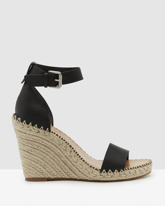 Dolce Vita Women's Black Wedge Sandals - Noor - Size One Size, 8 at The Iconic