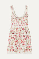Needle & Thread Floral Romance Ruffled Sequin-embellished Tulle Mini Dress
