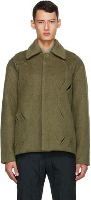 Cornerstone Green Wool Cut-Out Jacket