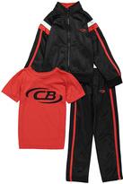 CB Sports Engine Red & Black Windbreaker Set - Boys