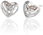 Clogau Gold Eternal Love silver & 9ct rose gold earrings