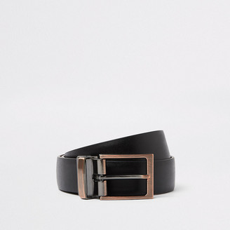 River Island Black reversible buckle belt