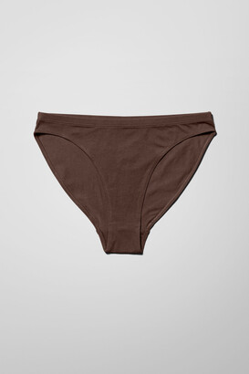 Weekday Elisa High Cut Brief - Black