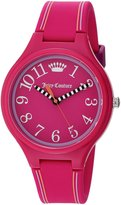 Juicy Couture Women's 'Day Dreamer' Quartz Plastic and Silicone Casual Watch, Color: (Model: 1901561)