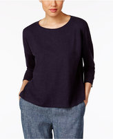 Eileen Fisher Hemp-Organic Cotton Boxy Top, a Macy's Exclusive Style