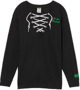 PINK Marshall University Lace-Up Campus Crew
