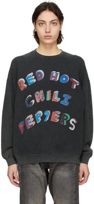 R13 Black Oversized RHCP Flea Art Sweatshirt