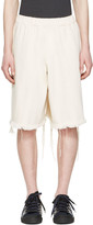 Marques Almeida Off-White Denim Track Shorts