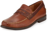 Tommy Bahama Finlay Leather Penny Loafer, Saddle Brown