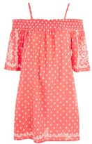 Topshop Embroidered Sun Dress