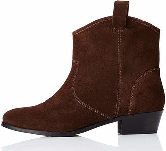 Find. Pull On Leather Casual Western Ankle Boots