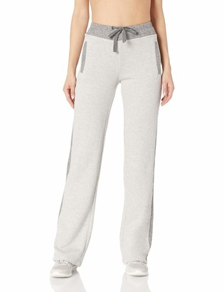 Andrew Marc Women's Plus Size Sparkle Terry Long Pants