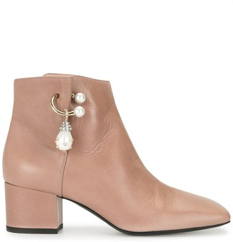 Coliac Stone-Embellished Ankle Boots