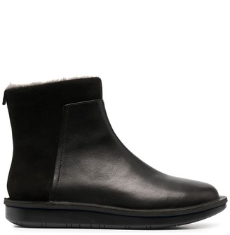 Camper Zip-Up Leather Boots