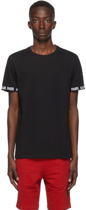 Balmain Black Logo Trim T-Shirt