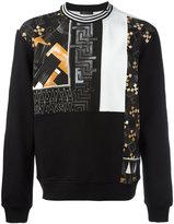 Versace multi-patterned sweatshirtlong