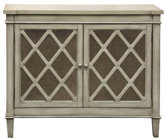 Gracie Oaks Exeter 2 Door Mirrored Front Console Table