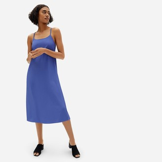 Everlane The Japanese GoWeave Cross-Back Slip Dress
