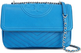 Tory Burch Tasseled Embossed Leather Shoulder Bag