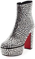 Christian Louboutin Roxxxy Strass Crystal Platform Red Sole Boot
