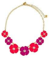 Kate Spade Crystal Enamel Floral Necklace