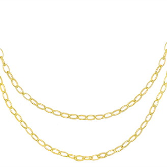 Adina's Jewels Double Chain Necklace