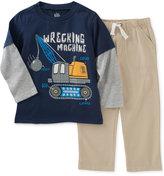 Kids Headquarters Little Boys' 2-Pc. Long-Sleeve T-Shirt & Pants Set