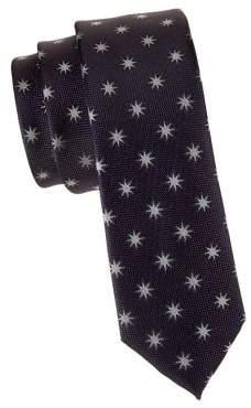 Black & Brown Black Brown Star Conversation Slim Tie