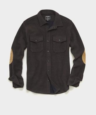 Todd Snyder Italian Herringbone CPO Shirt in Dark Brown