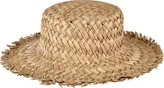 San Diego Hat Company Women's Seagrass Boater with Frayed Edge SGF2014