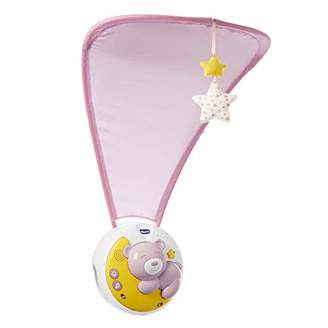 Chicco Next2moon - Crib Projector with Lights and Sounds, Mobile, Panel and Detachable Carousel - Pink