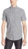 Ben Sherman Men's Short Sleeve House MOD Check Button Down Shirt