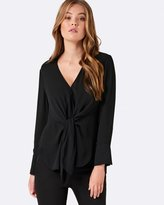 Forever New Candy Tie Front Formal Blouse