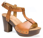Muk Luks Women's Gindy Quarter Strap Clog Sandals - Cognac