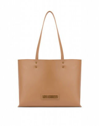 Love Moschino Shopper With Lettering Logo Woman Brown Size U It - (one Size Us)