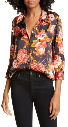 L'Agence Dani Silk Floral Shirt