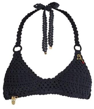 Stella McCartney Crochet Halterneck Bikini - Navy