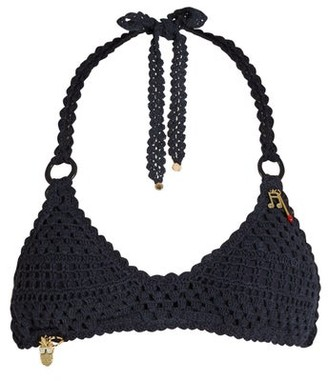 Stella McCartney Crochet Halterneck Bikini - Womens - Navy
