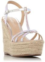 Head Over Heels Karrissa T-Bar Espadrille Platform Wedge Sandals
