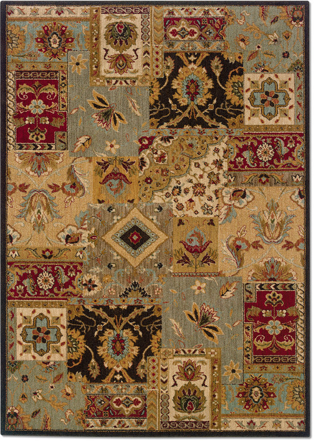 "Sphinx MANUFACTURER'S CLOSEOUT! Area Rug, Perennial 2179C Patchwork 9'10"" x 12'9"""