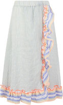 Lemlem Mist Stripe Wrap Afia Skirt