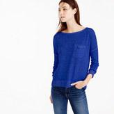 J.Crew Yarn-dyed linen pocket crewneck sweater