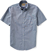 Roundtree & Yorke Gold Label Big & Tall Short-Sleeve Solid Button-down Collar Sportshirt