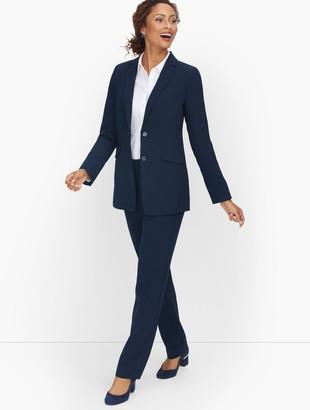 Talbots Stretch Crepe Two Button Blazer