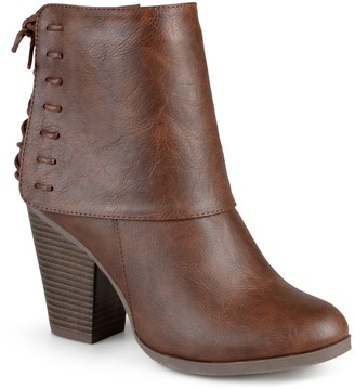 Journee Collection Corset Lace Ankle Bootie